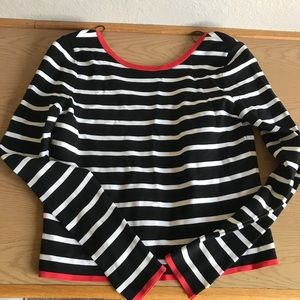 Zara Knit Contrasted Striped Top